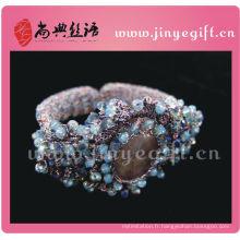 Bracelet de crochet de fil de style victorien de beaux bijoux