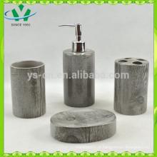 Mobiliário de casa de banho de bambu cerâmica, acessórios de casa de banho chinesa