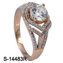 Moda jóias 925 prata esterlina zircônia mulheres anel (s-14483r)