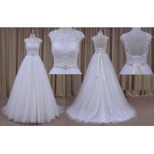 mm026 mangas de renda vestido de noiva chiffon 2016