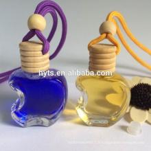 bouteille de forme de pomme pour le parfum de voiture arôme