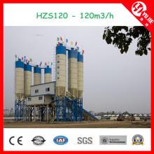 Hzs120 Wet Mix Betonfertigungsstraße bei gutem Preis