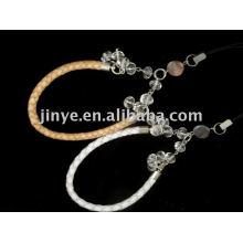 fashion beaded jewelry braid leather wrist band