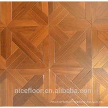 Layered solid wood parquet flooring TEAK PARQUET FLOOR