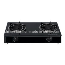 2 Burners Tempered Glass Top Infrared 165 Gas Cooker/Gas Stove