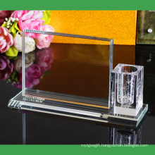 Crystal Stationery Set Gifts Pen Holder with Photo Frame