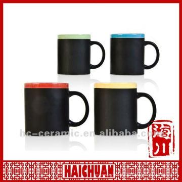 Ceramic chalk mug, blackboard mug, write on mug