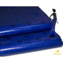 2017 Latest Design Bazin Brocade Styles For Ladies Royal Blue Color African Women Clothing Shadda Brocade Wedding Fabric