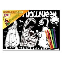 niños creativo Halloween tema rasguño DIY pintura, suspensión de la puerta, no molestar la suspensión de la puerta