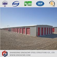 Estructura de edificio de almacenamiento de estructura de acero ligero