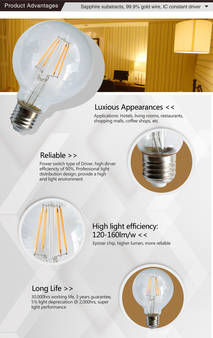 LED Filament Lamp G80