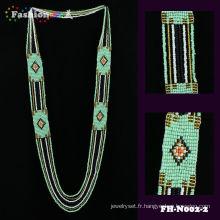 Nouveau mode tendance custome couleur été collier de perles