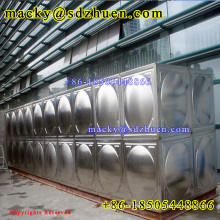 Square type hospital use sectional stainless steel 304 water tank panels and accessories for fire fighting