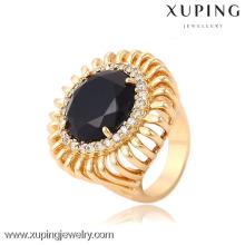 13714 Xuping anillos de obispo de cristal de estilo más nuevo con oro de 18 k