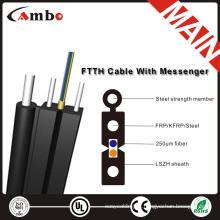 FTTH 1,2,4 cores, LSZH\PVC fiber optic drop cable