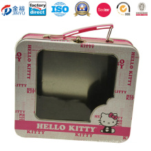 Factory Directly Rectangular Tin Box with Window