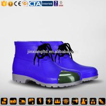 CE aço Toecap e Sole PVC homens azul botas de chuva e segurança PVC goma botas