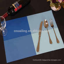 hot sale bule matts pvc placemat for dining-table