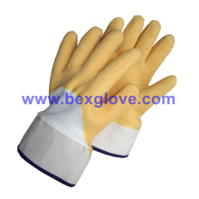 Guante de trabajo amarillo, guante de trabajo resistente