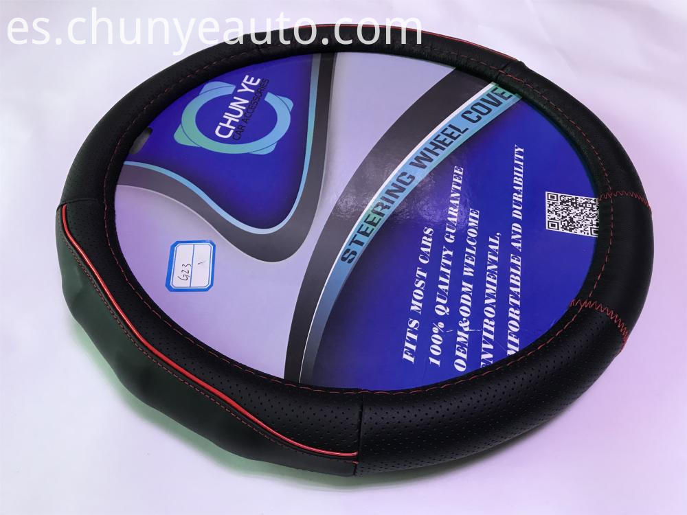 new style leather steering wheel cover