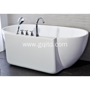 White hotel house ceramic hotel oval shape simple bathtub