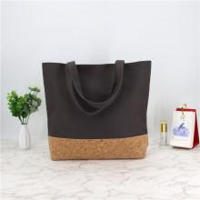 Eco Friendly Reusable Custom Cotton Canvas Cork Tote Shopping Bag Handbag