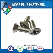 Made in Taiwan DIN 965 Phillips Flat Countersunk Head Zinc Finish Stainless Steel Machine Screw