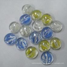 Flache Glasperlen und flache Marmor für Vasenfüllstoffe