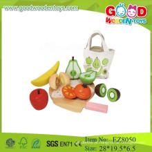 Corte de fruta conjunto de brinquedos de madeira para cortar frutas corte corte de frutos