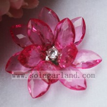50MM Acrylic Crystal Bead Flower Artificial Plastic Decorative Flowers
