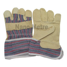 NMSAFETY brown pig grain leather working glove