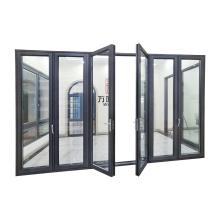 WANJIA Bi folding Door Aluminum Glass Doors  Aluminum Folding Door