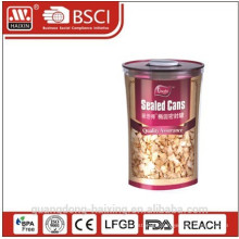 2010 new design oval plastic airtight canister