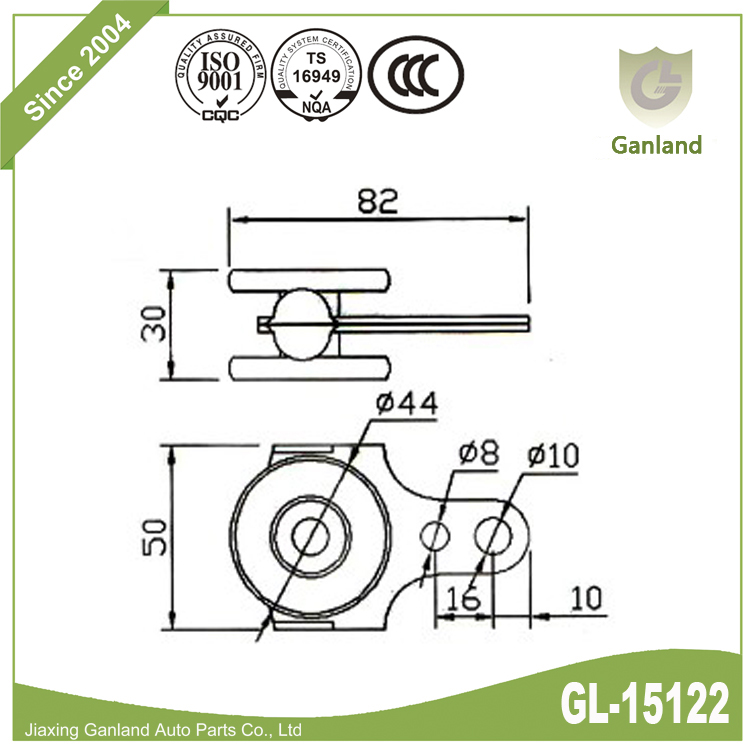side curtain trailer roller gl-15122