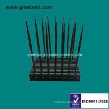 14 banda UHF VHF WiFi Jammer / Jammer teléfono móvil (GW-JA14)