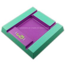 Cendrier carré en mélamine bicolore avec logo