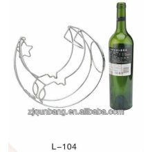 Forme de lune en métal Porte-vin, porte-vin