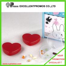 Coração forma 3 compartimentos pílula caso (EP-P412905)