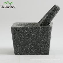 5.1'' Granite Mortar & Pestle For Herb and Spice/Herb Grinders/Kitchen Cookware