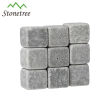 Wholesale Price 9pcs Whisky Rocks Whisky Stones Beer Wine Stones Whisky Ice Stones Bar Accessories with a Pouch