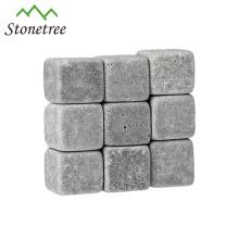 9 Pcs Por Conjunto Gravado Cinza Pedra De Vinho De Lava Para Bar Acessórios