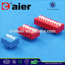 Daier dip switch controle remoto 4way 8 pinos dip switch