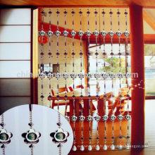 Chine gros rideau en cristal perlé rideau / métal