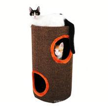 2018 novo design popular novo papelão gato árvore ondulado cat play house