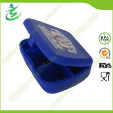 Пластиковая квадратная мини-пилюлька с 5 отсеками, ящик для пилюль