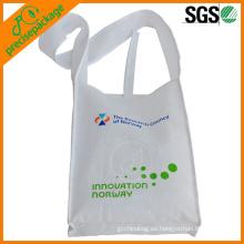 Bolso promocional no tejido reutilizable respetuoso del medio ambiente modificado para requisitos particulares del hombro pp