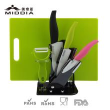 Керамический кухонный нож набор в красочной ручкой