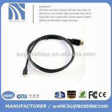 5FT (1.5M) Micro HDMI vers HDMI Câble Homme vers Homme Digital A / V pour Motorola / Sony Ericsson Fuji F85EXR