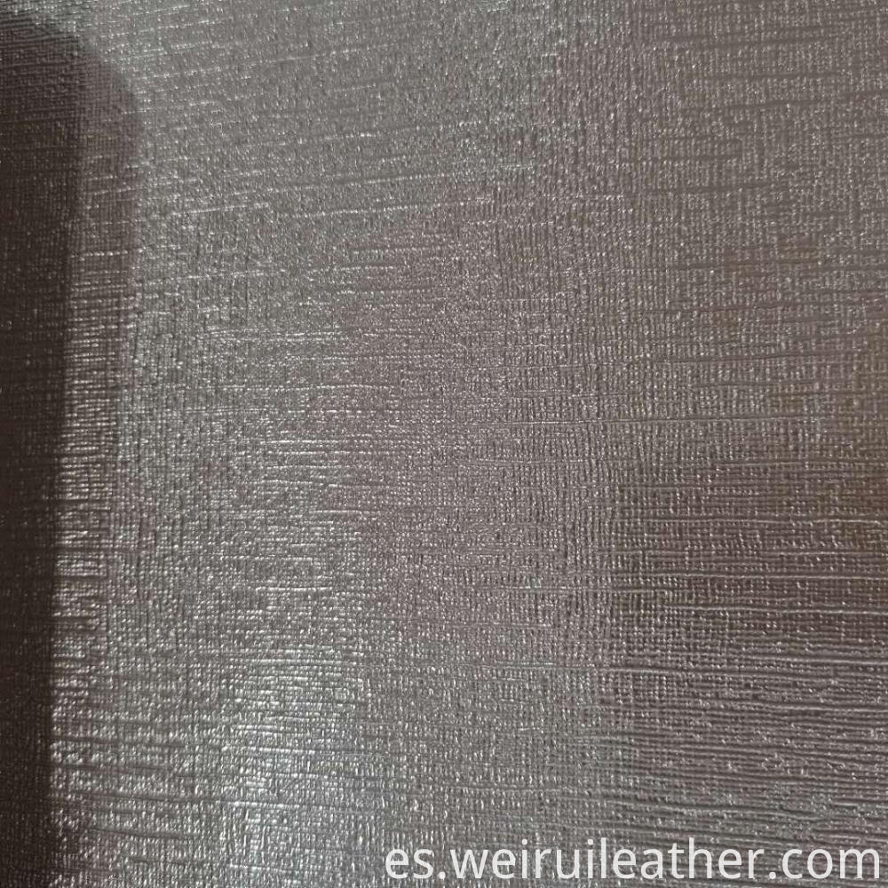 Cross Fabric Grain Pvc Leather