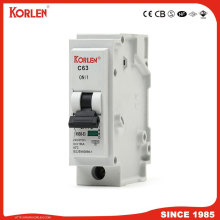 Korlen New Type Plug-in Mini Circuit Breaker 1p 1A-63A MCB με High Making and Breaking Capacity 10ka